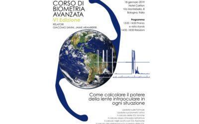 Corso di Biometria Avanzata 2019